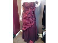 Size 12 Burgundy Prom Dress
