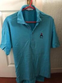 Nick Faldo Pringle golf polo shirt size L