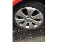 """£100 17"""" snow tyres & alloys!"""