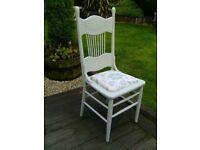 Vintage highback wooden chair