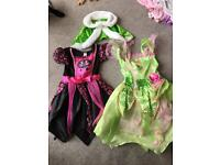 Girls dresses aged 3-4 years including Disney