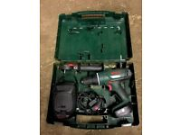 BOSCH PSB 14,4 Li-2 DRILL - COMPLETE SET IN CASE - HARDLY USED - Power Tool