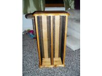 CD Wooden Storage Units, 80 CD's, Pine effect, Free standing, CD Tower, great item,