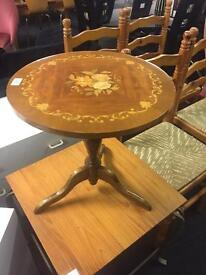 Small inlaid coffee / side table