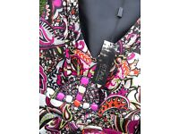 'STAR' Satin, tulip & paisley dress by Julien MacDonald - New with tags - Fits size 12 - £29 ono