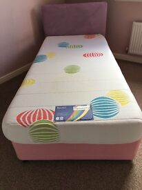 Single divan bed with mattress ideal for kids