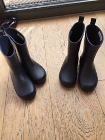 Kids Navy John Lewis wellies size 27