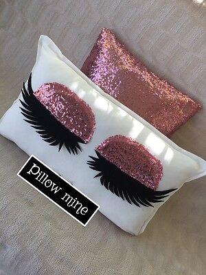 Sale Eyelashes Pillow And Sequin Pillowcase Sleeping Attractiveness Set Decor Pillow