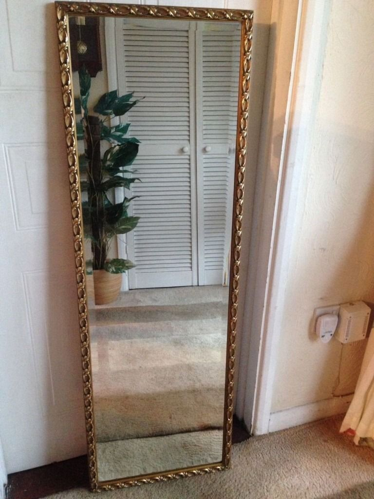 gold ornate full length wall mirror in waterlooville hampshire gumtree. Black Bedroom Furniture Sets. Home Design Ideas