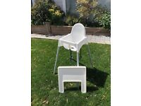 Ikea High Chair - White