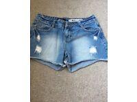 New look denim shorts