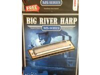 Hohner Harmonica Big River Harp MS Series boxed and never played