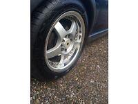 "Lenzo alloys 15"", new tyres , swap 5 stud ,bargain ,multifit 4 studs"
