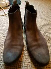 Brown suede shoes size 12