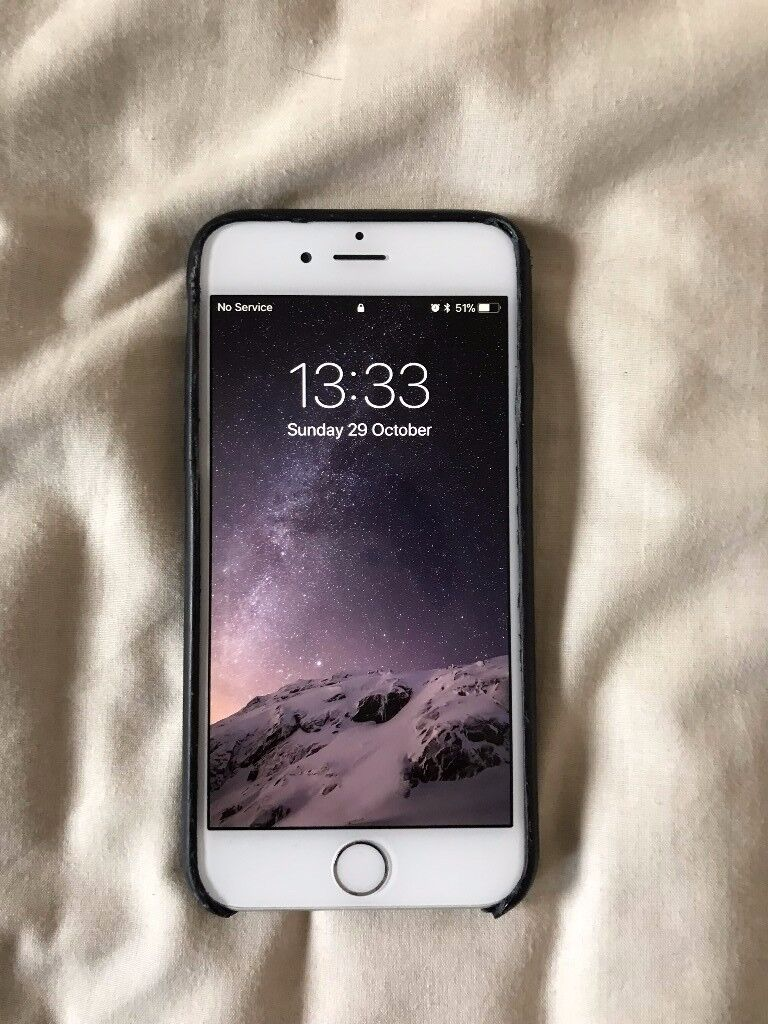 iPhone 6 64GB o2 inc. Apple leather case, box & new USB charger