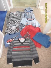 Boys jumpers/tshirts x 8 age 5, from Pumpkin Patch