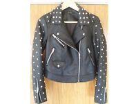 Zara women's jacket studded size: XS