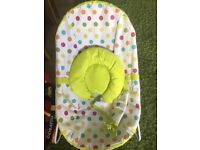 Mothercare baby bouncer with head rest