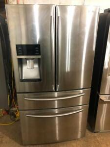 "Samsung 36"" Four Door Fridge With Water and Ice Maker"