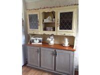 Kitchen Dresser,solid pine, Annie Sloan. Cream/French Linen