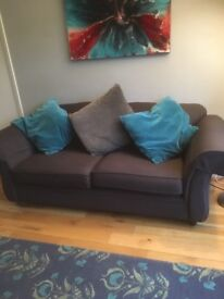 Grey sofa from Sofa Sofa, comfortable but used .
