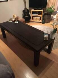 Solid Dark Mahogany Wood Table