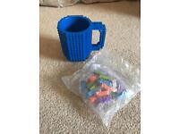 Brick building mug with bricks