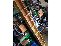 Ikea Benno Oak CD DVD Tower Shelf