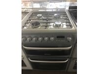 60CM SILVER HOTPOINT DUEL FUEL GAS COOKER