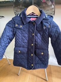 Joules girls quilted coat 5 years