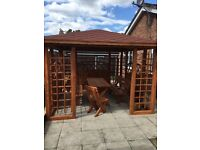10ft x 10ft GARDEN WOODEN GAZEBO