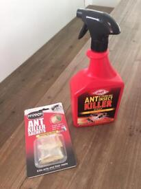 Ant Killer Soluble Sachets and Crawling Insect Spray NEW