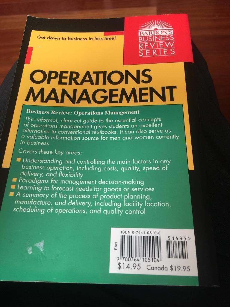 Operations Management manual