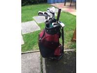 Ben Sayers Golf Clubs, shoes bag and trolley