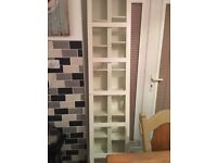 white ikea double dvd / shelf unit with door super condition paid £120 only £40