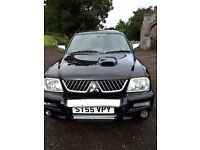 Mitsubishi l200 animal 4x4 pickup- turbo diesel- 12 months mot- double cab - towbar - very eco