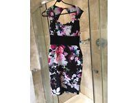 Women's Size 12 Lipsy Dress - Black/ Floral