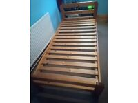Pine single bed frame please read
