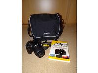 Nikon D40x with bag, spare battery, books 10.2MP DSLR Camera 18-55 mm