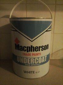 Macpherson White Undercoat Paint 5litres