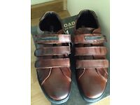 Men leather shoes size 8 brown new - £ 24