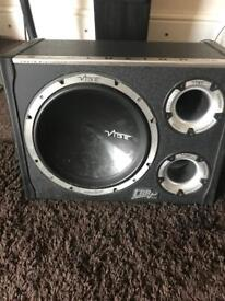 12 inch vibe subwoofer with built in amp - 1600 watts