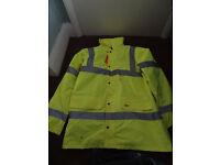 Hi Viz High Vis Visibility Bomber Work Jacket
