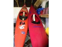 Kayaks, oars, spray decks, life jackets
