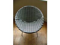 Retro Monochrome tub chair