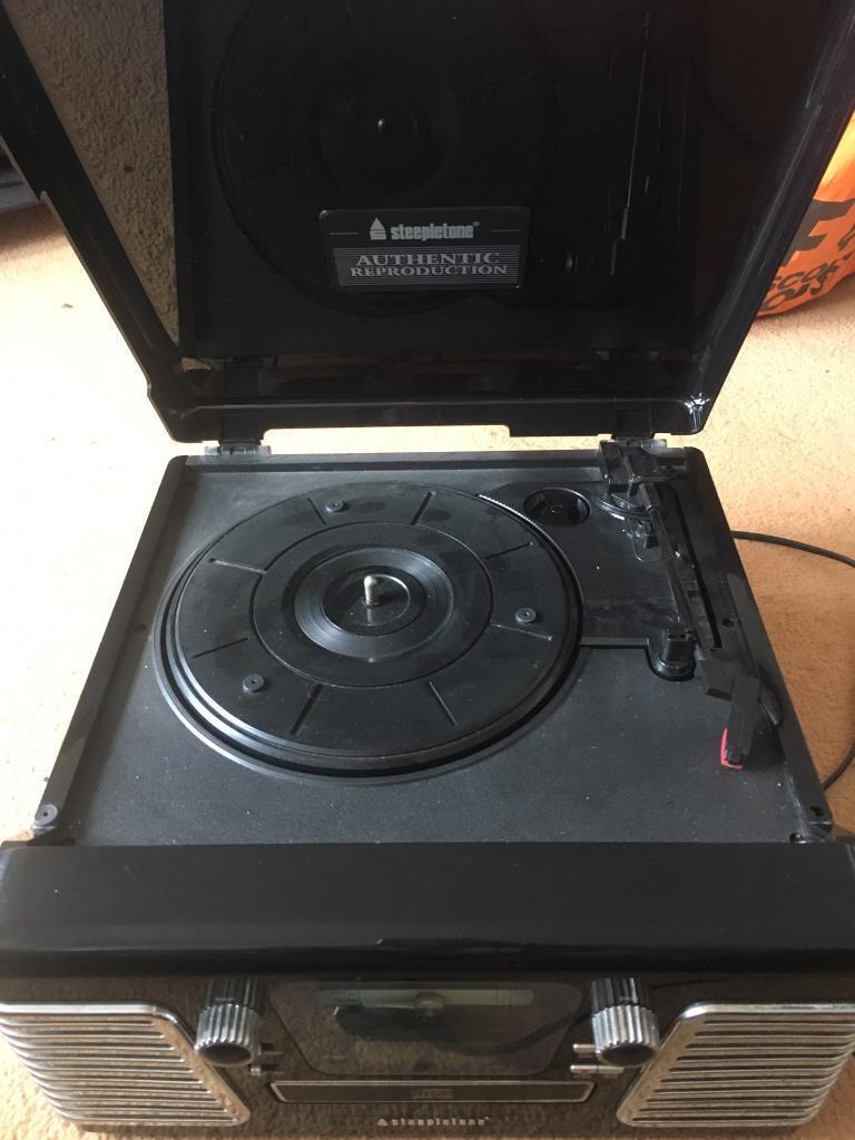 Steepletone record player Roxy 3CD (radio,cd and vinyl)