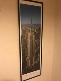 Large Empire State Building print mounted quality item
