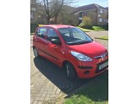 Hyundai i10 hatchback 2009. Low mileage and service history £30 road tax!