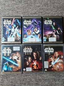 Collection of star war dvds