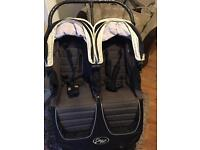 Baby jogger city mini double with carrycot